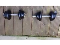Set of Dumbbells with Weights and Curl Z Bar