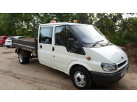 2006/06 Ford Transit 350 LWB d/c crew cab Tipper 2.4 Turbo Diesel **call 07956-158103**