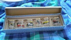 Boxed Vintage Car Shot Glasses