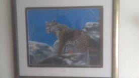 joel kirk original leopard painting