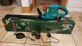 Second hand Bosch battery powered cordless hedgecutter