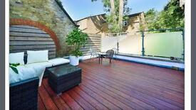 Double room in spacious 2bed 2 bath with fab patio
