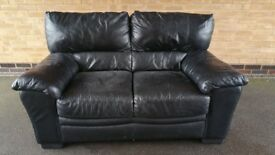 Leather sofa in good condition.