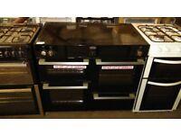 BELLING 100cm Electric Induction Range Cooker - Black