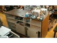 Shop counter wood cabinet heavy duty reception desk
