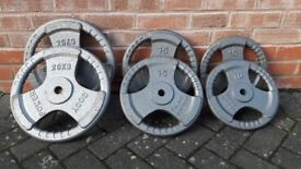 CAST IRON WEIGHT PLATES SET- 10KG - 15KG - 20KG