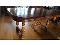 Old Dining Table - French Oak. Well used but attractive piece of furniture