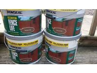 RONSEAL SHED / FENCE PAINT X FOUR TUBS
