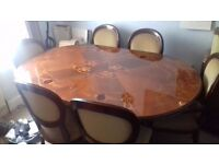 Vintage Italian dining table with 6 chairs VGC