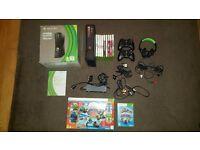 Xbox 360 250gb black + 2 wireless controllers + headset + 10 games (INC. FIFA 16 & SKYLANDERS)
