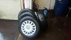 4 14inch Goodyear tyres and wheels