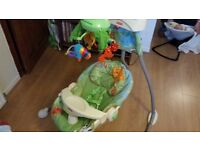 Fisher Price Rainforest Swing and mobile