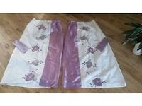 """Curtains (pair) 66"""" x 54"""" fully lined"""