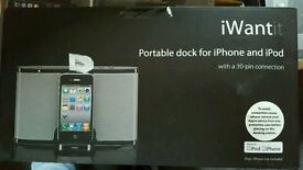 Iphone docking station for iphone 3 3G 3GS 4 4S + Ipods new boxed