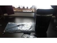 Intel core 2 duo 2.80ghz desktop computer (base unit only NO MONITOR) piano black case