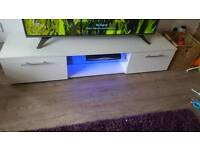 New White tv unit with led lights