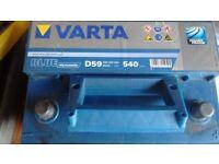 Varta D59 Blue Dynamic car battery in good condition