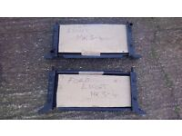 2 VINTAGE C1980S FORD ESCORT Mk 3-4 CAR RADIATORS OLD NEW STOCK NEVER FITTED VGC