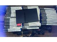 Large Sony PlayStation 2 ps2 console/game bundle