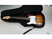 Eastcoast electric guitar (left handed) with case