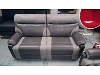 2 Ex Display SCS Ralph Grey 3 Seater Electric Recliner Sofas With USB £400 each Can Del View Welcome