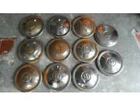 11 MORRIS MINOR HUBCAPS HUB CAPS WHEEL COVERS CHROME RUSTY