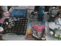 Air brush and compressor set with complete set of Vallejo acrylic paints.