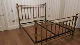 AND SO TO BED, brass bedstead, Coriander, Super King, as new condition