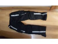 Textile trousers for motorbike