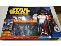 Star Wars chess set and toy plus cards