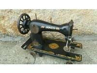 Antique Jones sewing machine. Guide Bridge Manchester Singer style