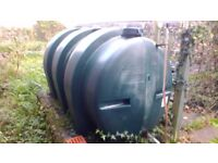 Oil tank for central heating oil.