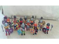 Playmobil viking horde with miscellaneous weapons
