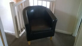 Tub Chair,Black in colour as new condition