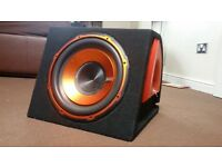 Edge 900 watt Active Bass Subwoofer & Enclosure with ground zero amplifier