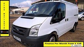 Ford Transit Low Roof SWB Panel Van 2.2 300 -1 Owner Ex BT- FSH 8 Stamps -1YR MOT-72K Miles -260 280