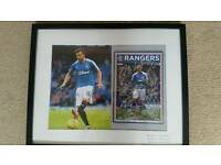 Rangers player signed football frame