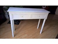 WHITE Belgravia style DRESSING TABLE shabby/chic