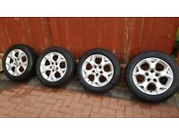 """16"""" Vauxhall zafira, astra, vectra 5 stud alloy wheel with tyres 205/55 R16 91H"""