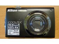 Nicon Coolpix S4000 12 Megapixel Camera 4 x Wide Zoom Touch Screen