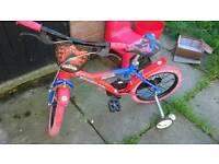 Boys spiderman bike age 4-7