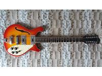 Beautiful 12 string electric guitar Rickenbacker style