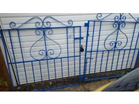 Gates, blue, steel.