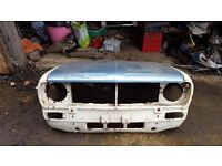 Classic mini clubman shell, front, doors, boot, bonnet, bare shell