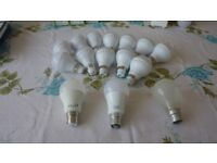 GLS LED Light Bulbs B22 Bayonet warm white