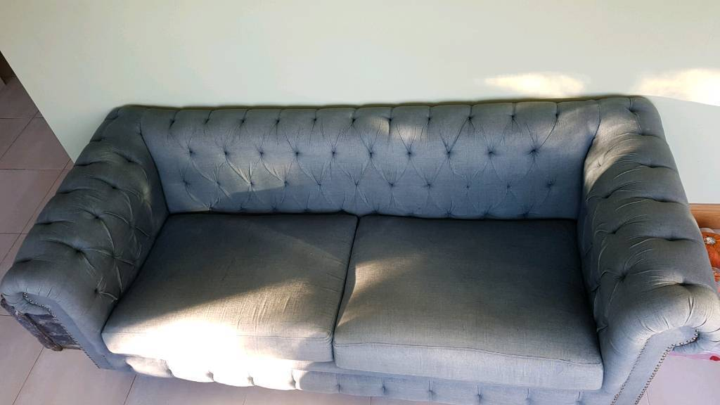 Chesterfield Sofa In Petrol Green In Prestbury Cheshire Gumtree