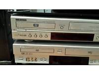 DVD AND VHS PLAYER AND RECORD SAMSUNG AND TOSHIBA