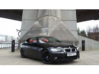 2007 57 BMW 320I M SPORT CONVERTIBLE BLACK RED LEATHER CHEAPER PART EX WELCOME)**FINANCE AVAILABLE**