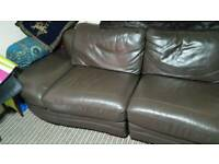 4 seater leather sofa