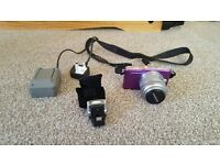 Olympus Pen E-PM1 Kit – Purple – 14-42mm Lens – Flash – Battery and Charger
